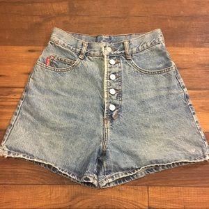 Authentic BONGO high waisted denim shorts